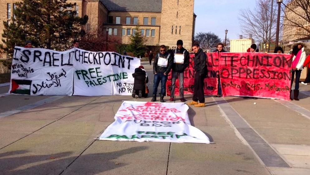 Cornell SJP - Mock Checkpoint Ho Plaza 11-19-2014