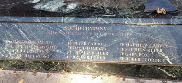 FDNY Squad 1 Station and Memorial Names