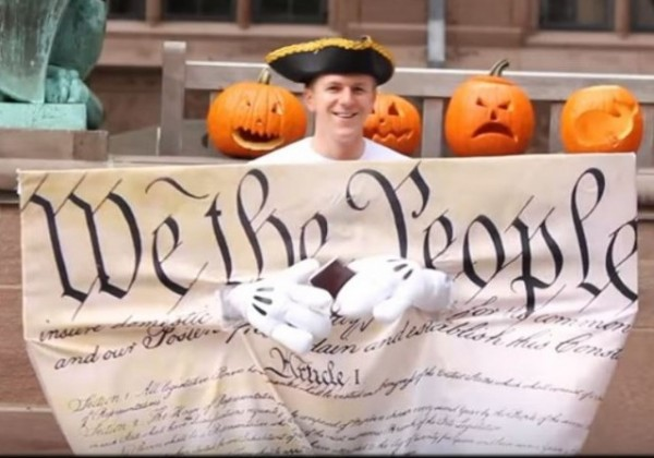 James O'Keefe Cornell Video Constitution Smiling