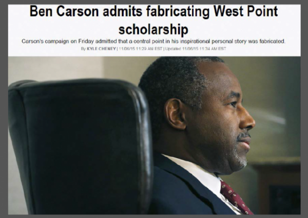 Politico Ben Carson West Point Article - original w border