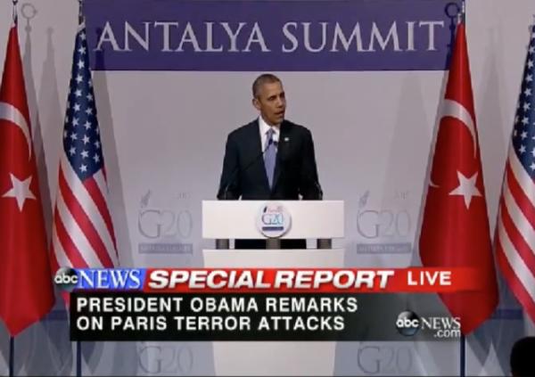 President Obama g20 summit press conference testy blame republicans paris terrorism attacks statement