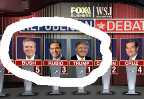 Republican Candidates Fox Business News Debate cropped