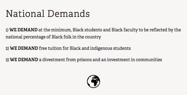 black collective national demands