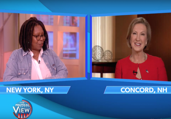 carly fiorina whoopi the view november 2015