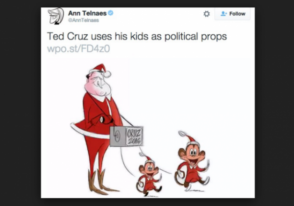 Ann Telnaes tweet Cruz kids cartoon