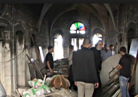 Arson Attack at Monastery in Bethlehem, Sept. 2015