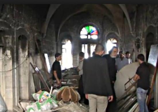 Arson Attack at Monastery in Bethlehem, Sept. 2015