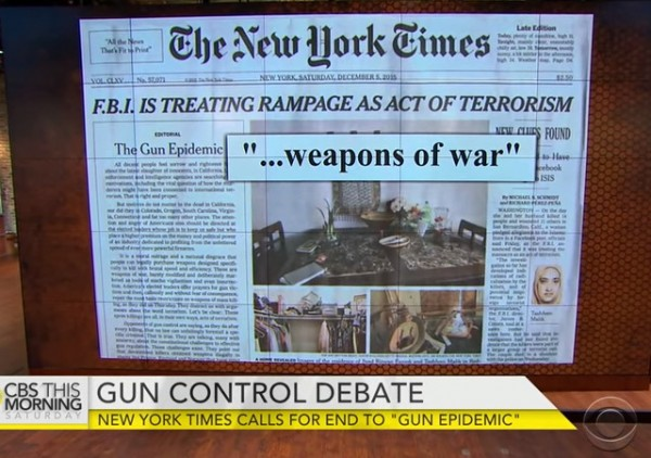 CBS on NYT gun editorial