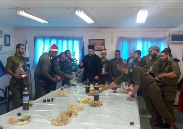 Christmas Party for IDF Soldiers with Father Gabriel Nadaf