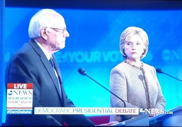 Dem Debate December 2015 Sanders Clinton