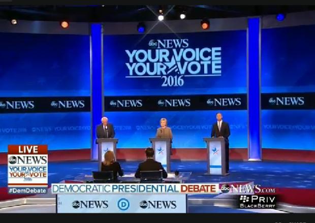 Democratic Debate NH Stage Full