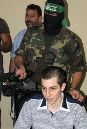 Gilad Shalit at His Release, 2011 | credit: CAMERA
