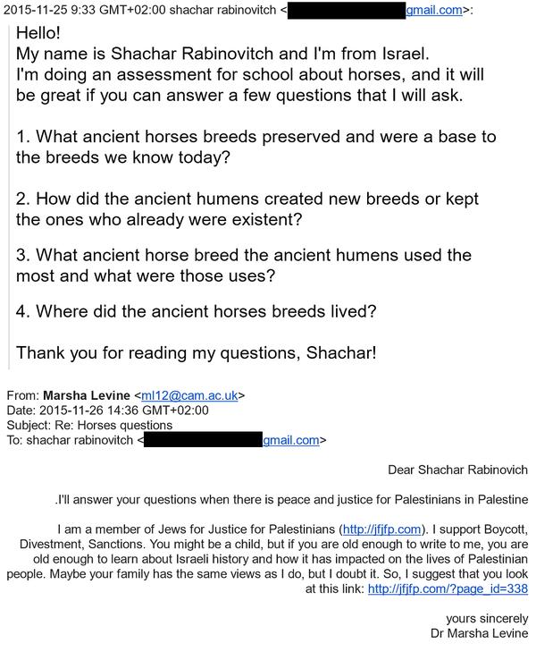 Marsha Levine - Email Shachar Rabinovitz