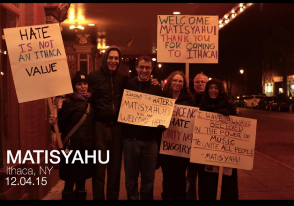 Matisyahu with supporters Ithaca 2