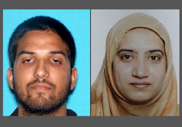 San Bernardino Terror Attack Husband and Wife w border
