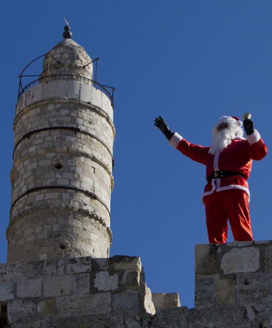 Santa in Old City