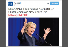 The Hill Twitter Clinton Emails New Years Eve w Border