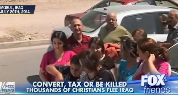 Christians Flee Iraq, 2014