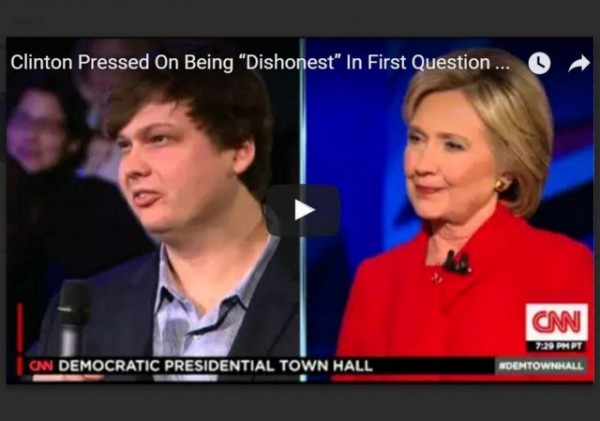 Hillary town hall dishonest question w border