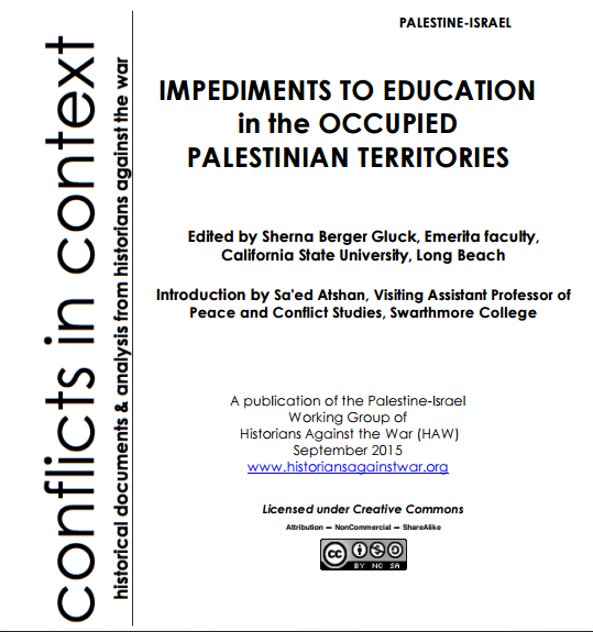 Historians Against The War 2016 Palestine Resolution Guide Cover