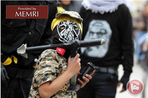 Child with mock RPG launcher