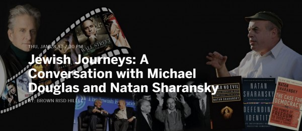 Michael Douglas Natan Sharansky Jewish Journeys tour