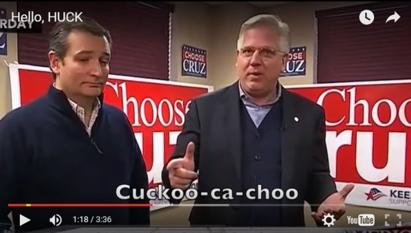 Mike Huckabee Iowa Caucus Video Ad Cruz Beck