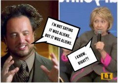 hillary aliens ufo history channel meme ancient aliens democratic campaign 2016 scandal email