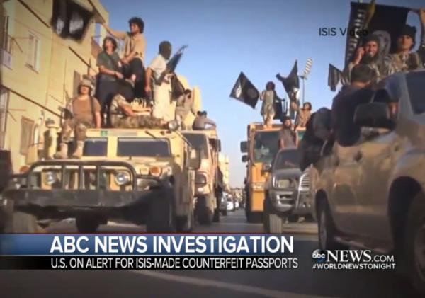 isis fake passport report counterfit passport terrorism paris attacks