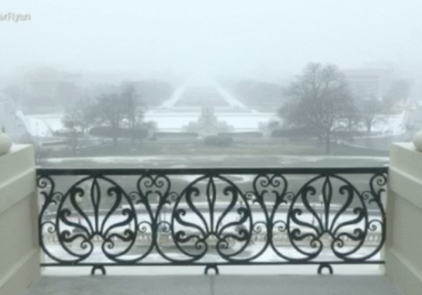 paul ryan dc snow winter storm live weather updates speaker balcony