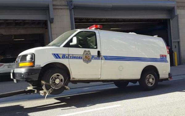Baltimore Police Van