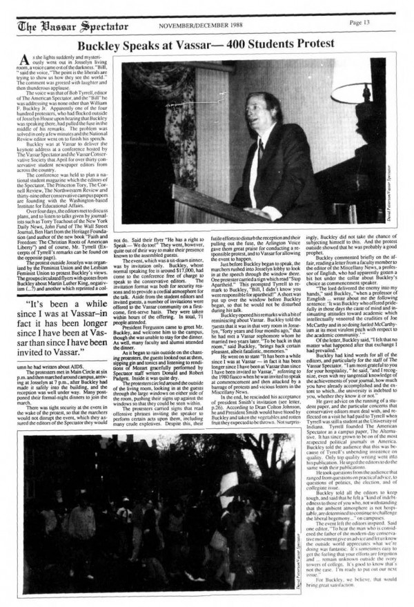 http://newspaperarchives.vassar.edu/cgi-bin/vassar?a=d&d=vcspec19881201-01.2.25&srpos=6&e=-------en-20--1--txt-txIN-william+buckley-%2cARTICLE%2cADVERTISEMENT%2cCLASSNOTES%2cILLUSTRATION%2cTITLE_SECTION%2cLETTER-----