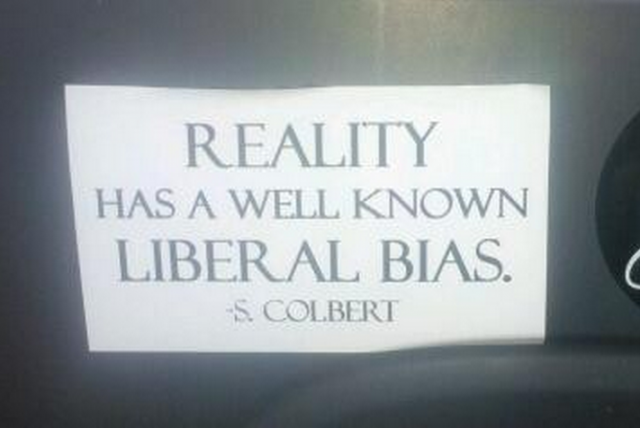 Bumper Sticker - Ithaca - Reality Well Known Liberal Bias