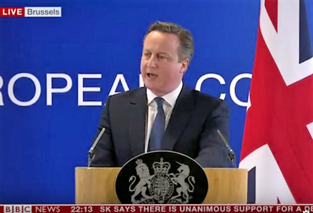 David Cameron on EU deal
