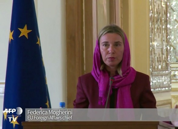 EU foreign policy chief Mogherini in Iran