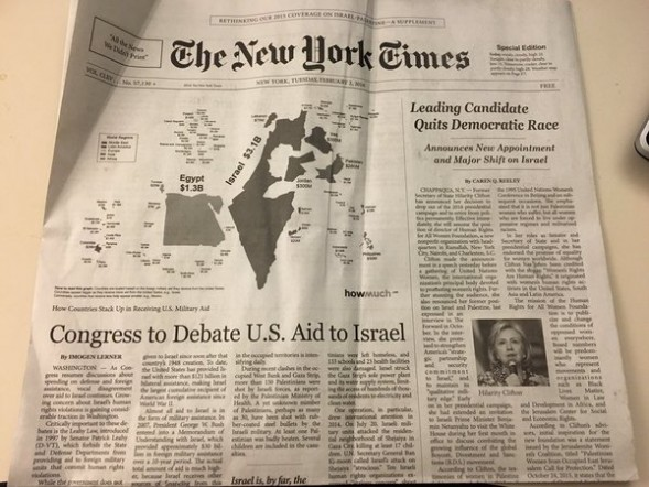 Fake NY Times edition anti-Israel