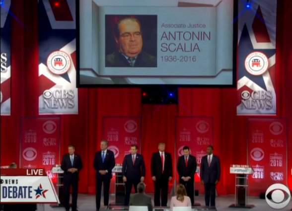 GOP Debate 2-13-2016 Scalia