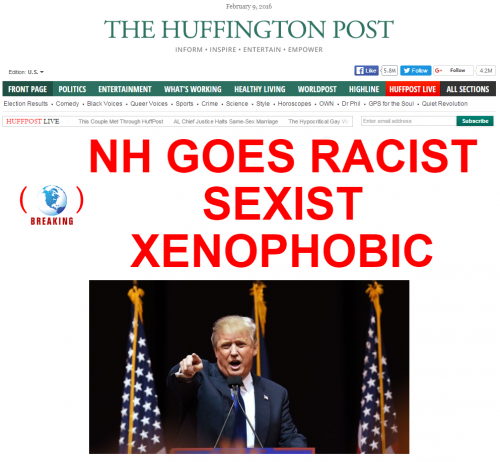 Huffington Post NH Primary Results Trump