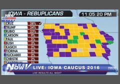 Iowa Republican Results  w border