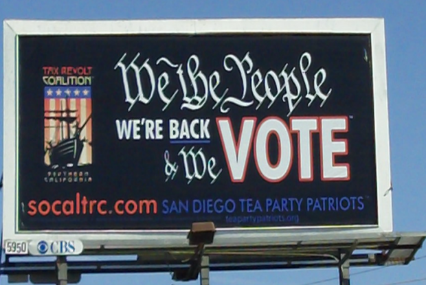 LI #34d San Diego Tea Party Sign