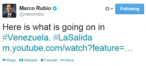 Marcho Rubio Twitter Venezuela What's Happening
