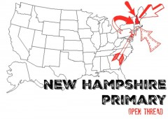 New Hampshire primary open thread live results reactions news updates democrat republican drop out poll