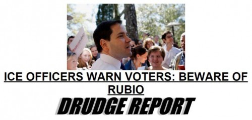 Rubio Breitbart ICE Officers Drudge Headline