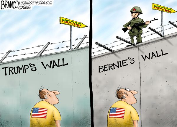 Building Walls AF Branco Conservative Cartoon