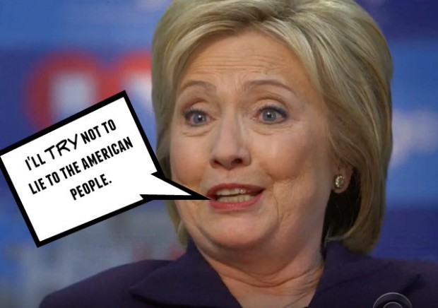 hillary clinton will not say she won't lie to american people scandal 2016 democratic president