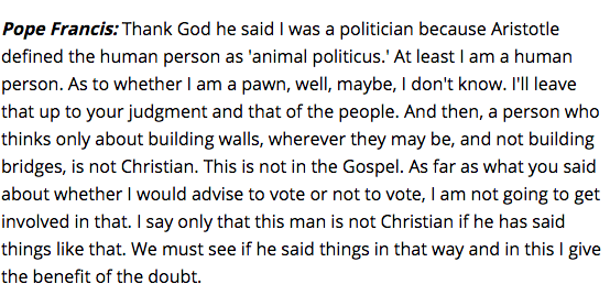 pope francis full remarks