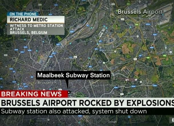 Brussels terror attacks_Multiple Bombs Hit Airport and Subway