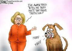 Clinton Truth Dog