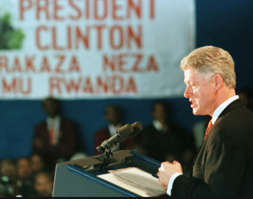 Bill Clinton | Kigali airport | March 25, 1998