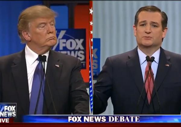 Fox News Debate 3-3-2-16 Trump Cruz